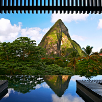Boucan Pool, St. Lucia, best views in the caribbean