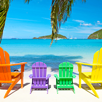 Caribbean beach chairs for families