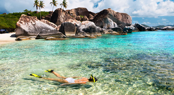 BVI, snorkeling the baths