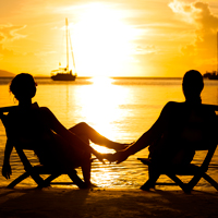 Romantic Sunset in the Caribbean