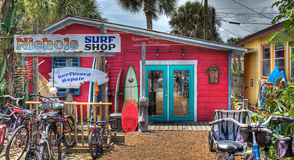 Nichols Surf Shop, New Smyrna Beach, Florida