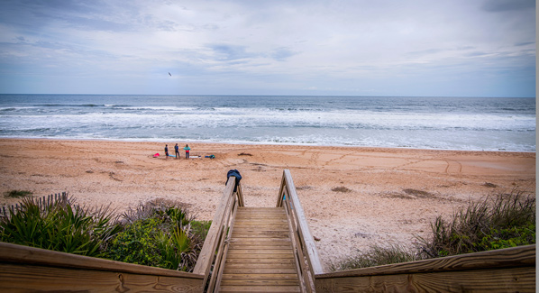 St. Augustine Surfers on Beach, Favorite Florida Surf Towns