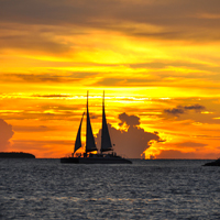 Key West Sunset, Cat Sail, Florida