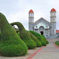 COsta Rica, La Fortuna, Zarcero Church Gardens
