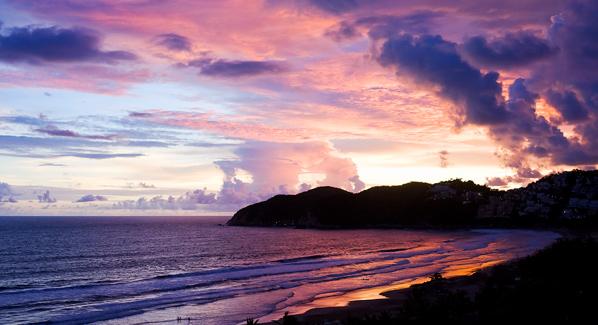 Acapulco Horseback A Sunset Over Acapulcos Revolcadero Beach