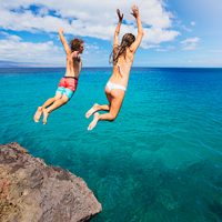 Caribbean Cliff Jumping