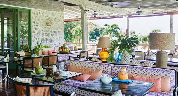Mustique Cotton House Verandah Restaurant