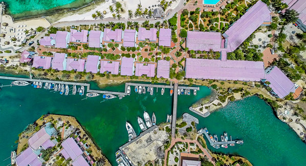 Bonaire Plaza Aerial Canals