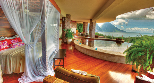 St Lucia Jade Mountain Private Pool