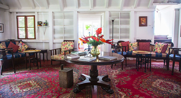 Hermitage Nevis Great House Living Room