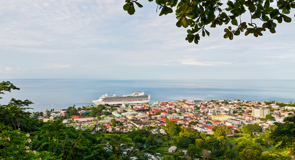 Roseau Dominica View