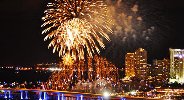 Miami Bayfront Park New Years Eve Fireworks
