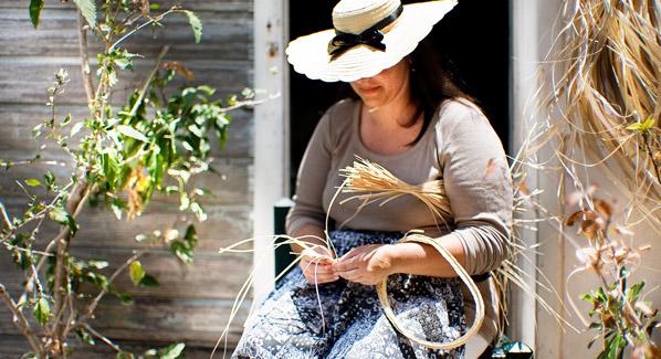 Weaving Baskets St Barts