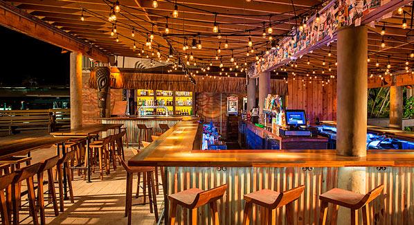 Tiki Bar Postcard Inn Islamorada
