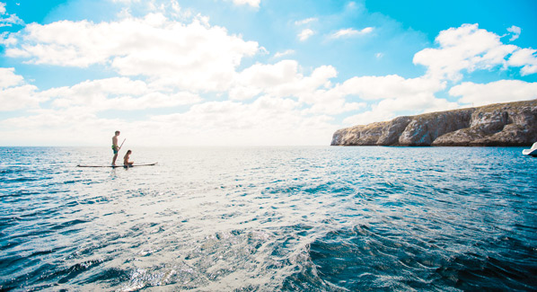 Paddleboarding Marieta Island