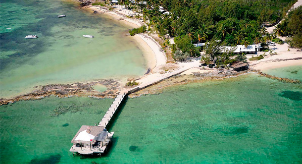 Bahamas Andros Hope Bay Lodge Dock