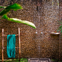 Belize Biancaneaux Lodge Outdoor Shower