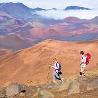 Hiking Haleakala Maui, Hawaii