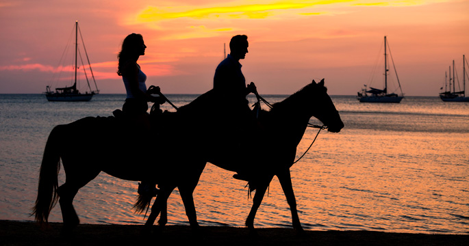 When Beaches Horses And Sunsets Come Together You Have The Makings Of A Truly Memorable Caribbean Vacation Experience One That S Available On Number