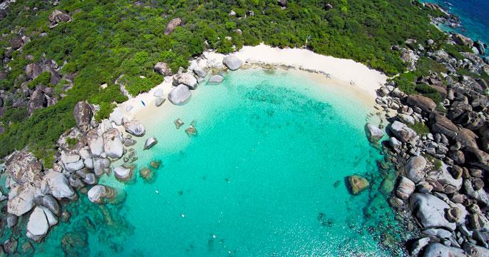 The baths devil s bay beach