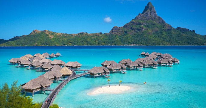 Boardwalks Connect The Over Water Bungalows To Beach At Intercontinental Each Morning Guests Can Enjoy In Room Breakfasts Delivered By Outrigger
